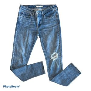 Levi Strauss & Co. 711 Skinny Distressed Jeans W27